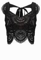 For Love & Lemons ROSALITA Top black