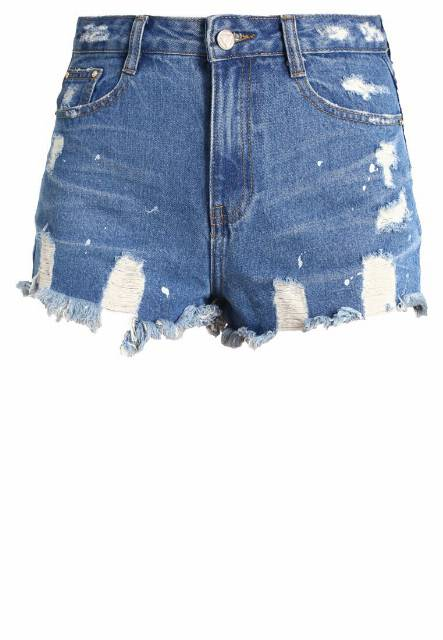 Missguided SINNER Szorty jeansowe vintage blue