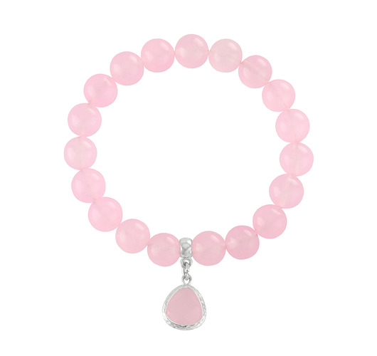 Pink jade with crystal.