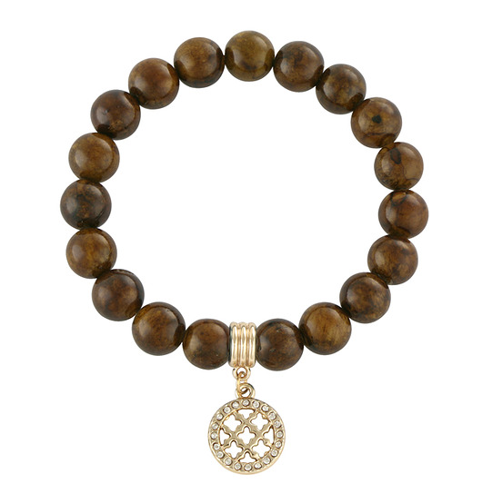 Brown jade with rosette..