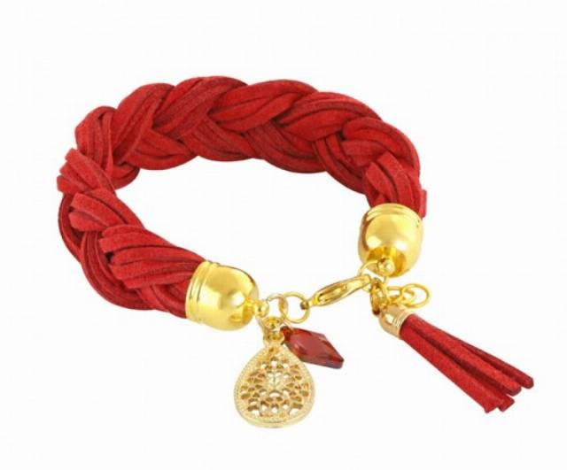 Braid - red & gold.