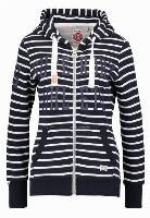 Superdry Bluza rozpinana nautical navychalk