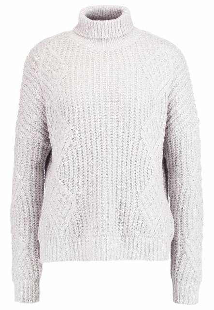 Object OBJALISJA Sweter light grey melange
