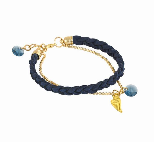 Gentleness - navy blue & gold.