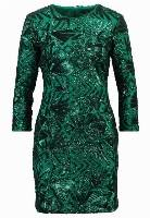 TFNC PARIS Sukienka etui tonal green sequin