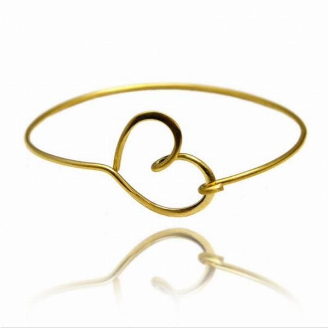 Heart bangle (mosiądz)