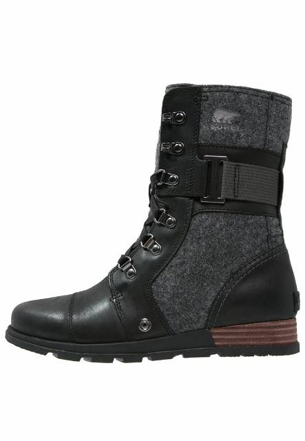 Sorel MAJOR CARLY Botki sznurowane black/dark grey