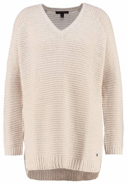 TOM TAILOR DENIM Sweter alabaster beige melange
