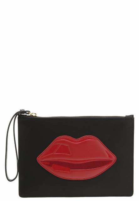 Lulu Guinness GRACE Kopertówka black/red
