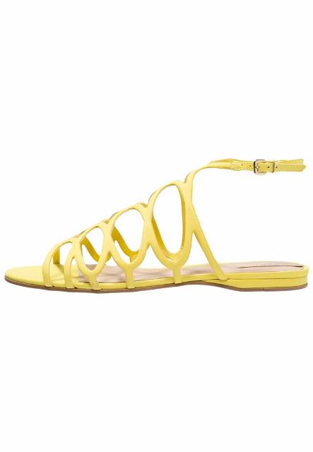 ALDO SIGNORESSA Sandały light yellow