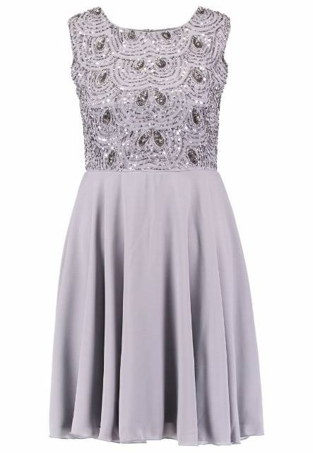 Lace & Beads FIONA Sukienka letnia light grey