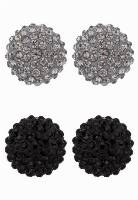 sweet deluxe KIMMY 2 PACK Kolczyki black/black diamond