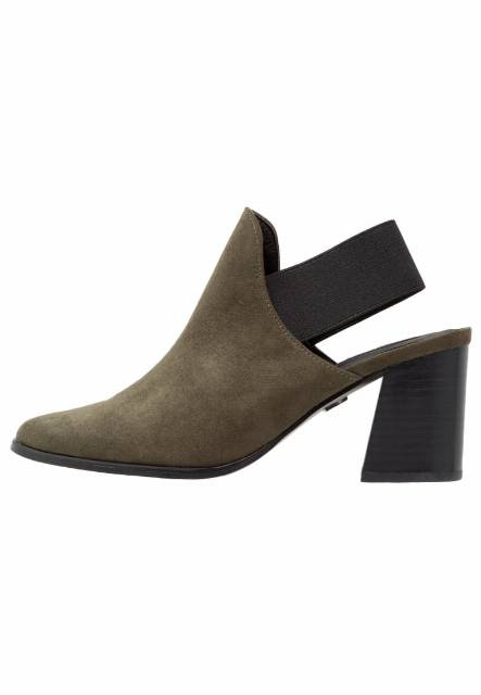 Lost Ink Ankle boot khaki