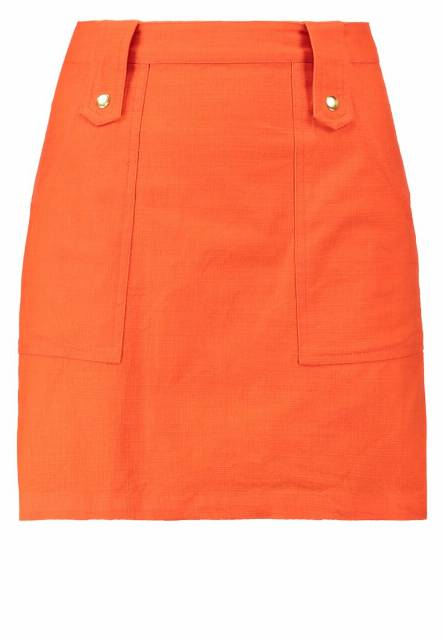 Topshop Spódnica mini orange