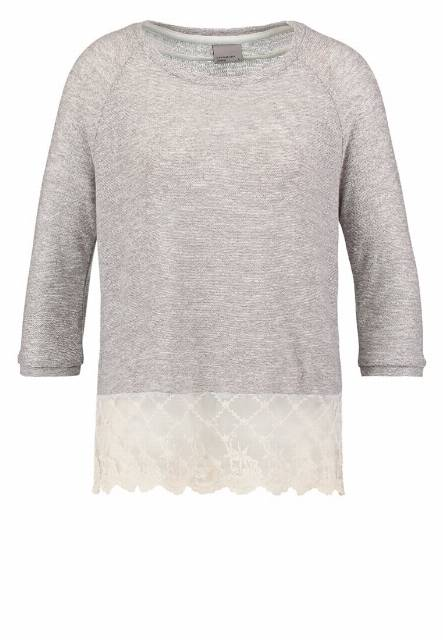 Vero Moda Sweter light grey melange