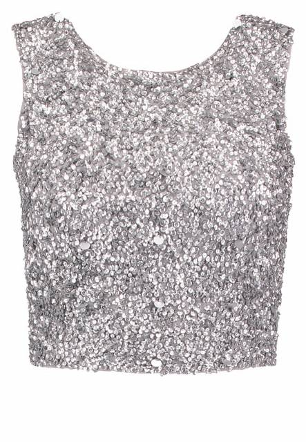 Lace & Beads PICASSO Top silver