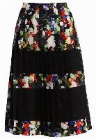 Banana Republic MINDY FLORAL Spódnica plisowana black/multi