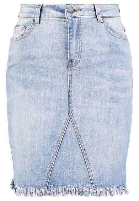 Object OBJTINNIE BELLA Spódnica jeansowa light blue denim