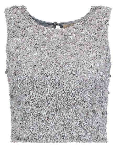 Lace & Beads PICASSO Bluzka light grey