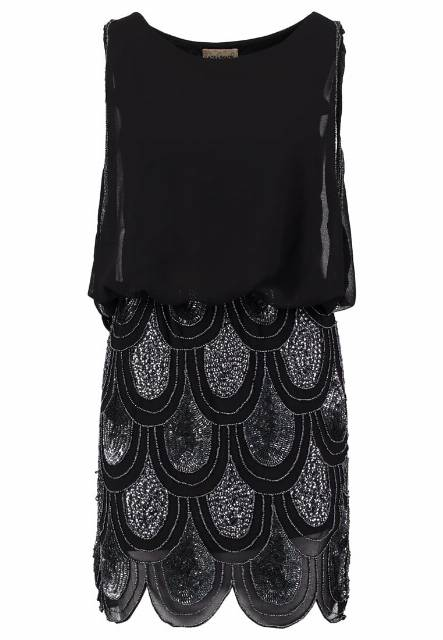Lace & Beads SHARON ANGELA Sukienka koktajlowa black/silver