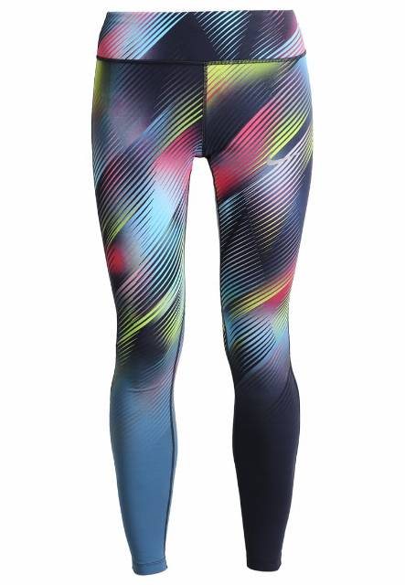 Nike Performance POWER EPIC LUX  Legginsy binary blue/reflective silver