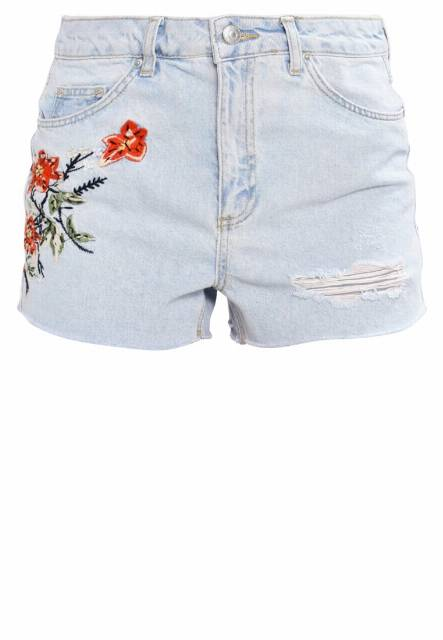 Topshop FIREFLOWER Szorty jeansowe lightdenim