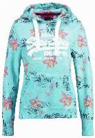 Superdry TROPIC Bluza z kapturem aquamarine