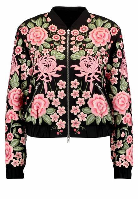 Needle & Thread ROSE  Kurtka Bomber black
