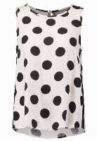 Vero Moda VMSALLY JOE Top snow white/black