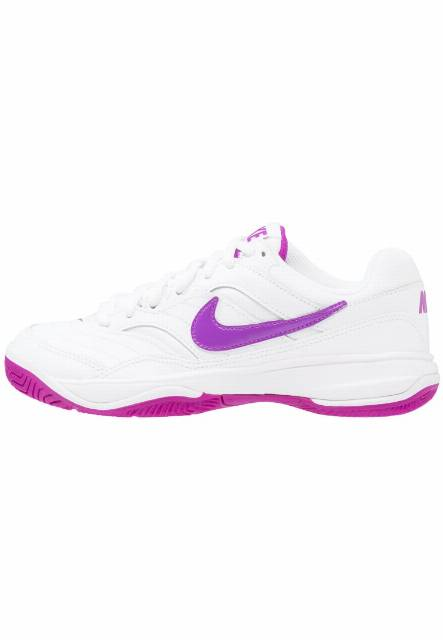 Nike Performance COURT LITE Obuwie multicourt white/vivid purple
