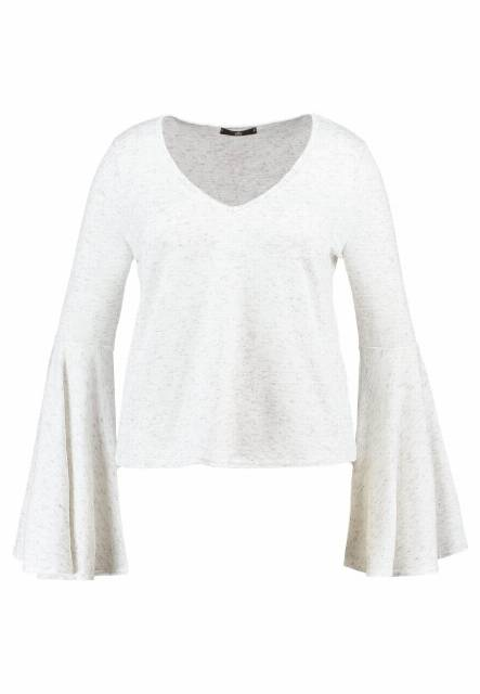 Missguided Plus BELL SLEEVE Sweter white