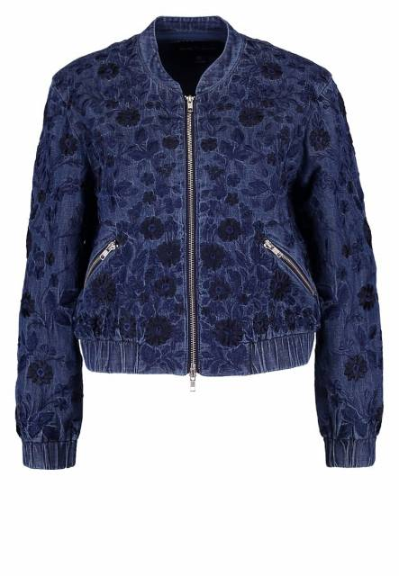 Needle & Thread WILD MEADOW Kurtka Bomber bleach indigo