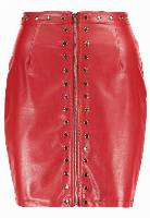 Missguided THROUGH STUD Spódnica mini red