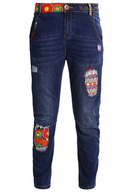 Desigual Jeansy Relaxed fit denim dark blue