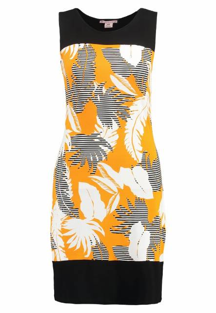 Anna Field Sukienka etui printed white/ orange