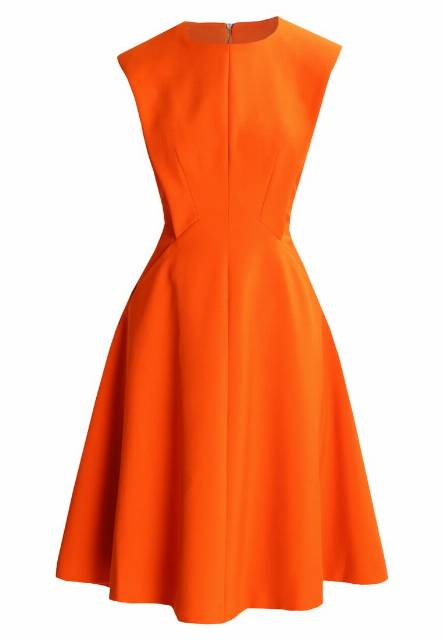 Karen Millen SCULPTURED TAILORED  Sukienka letnia orange