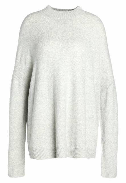 Moss Copenhagen THUG DOLLA  Sweter light grey melange