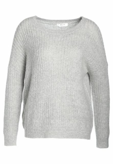 Moss Copenhagen Sweter light grey melange