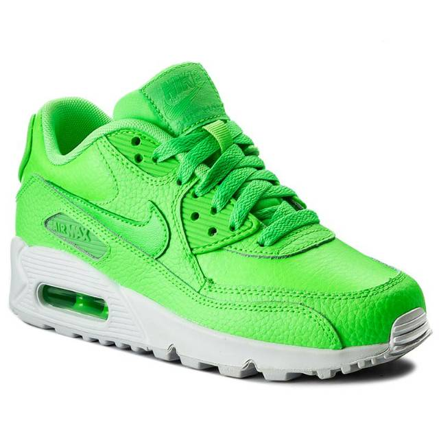 Buty NIKE - Air Max 90 Ltr (GS) 724821 300 Voltage Green/Vltg Green-White