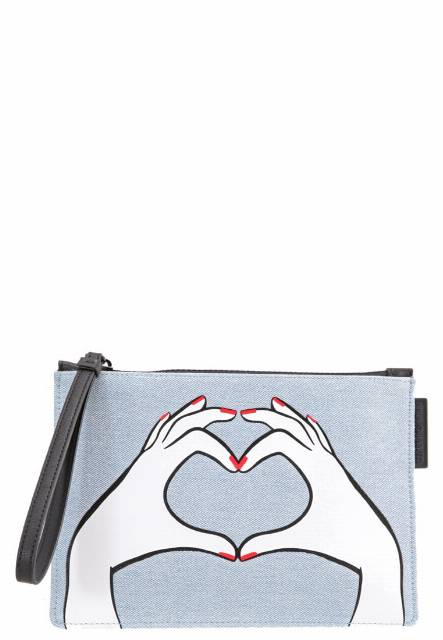 Lulu Guinness HEART HANDS Kopertówka denim