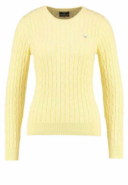 GANT Sweter light yellow