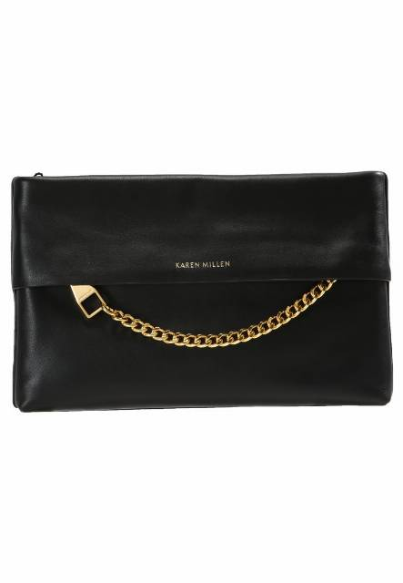 Karen Millen CHAIN ZIP BAG COLLECTION Kopertówka black