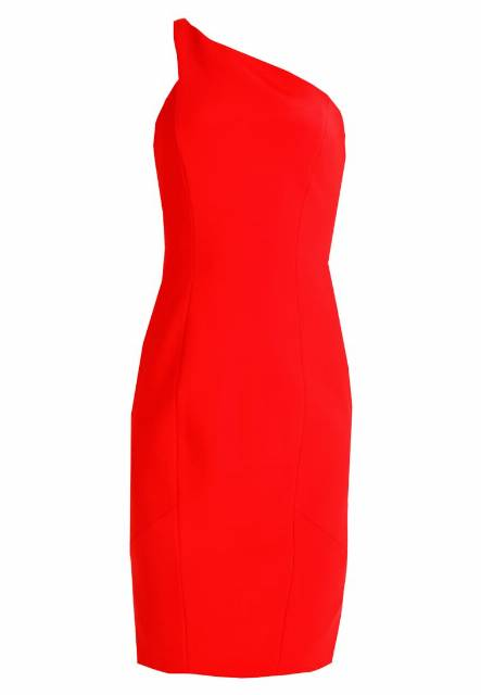 Karen Millen ONE SHOULDER ANGLED COLLECTION Sukienka etui red