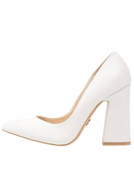 Lost Ink PAISLEY FLARED COURT SHOE Szpilki offwhite