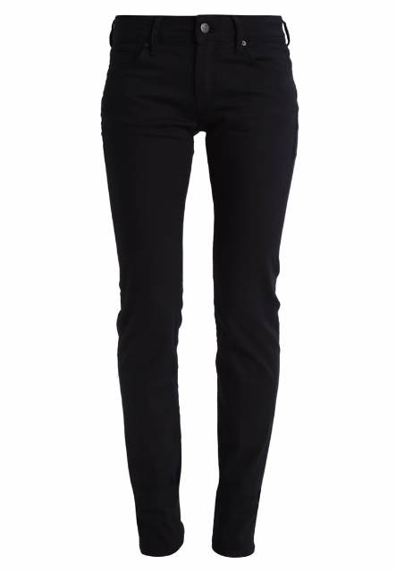 Mavi OLIVIA Jeansy Straight leg double black stretch