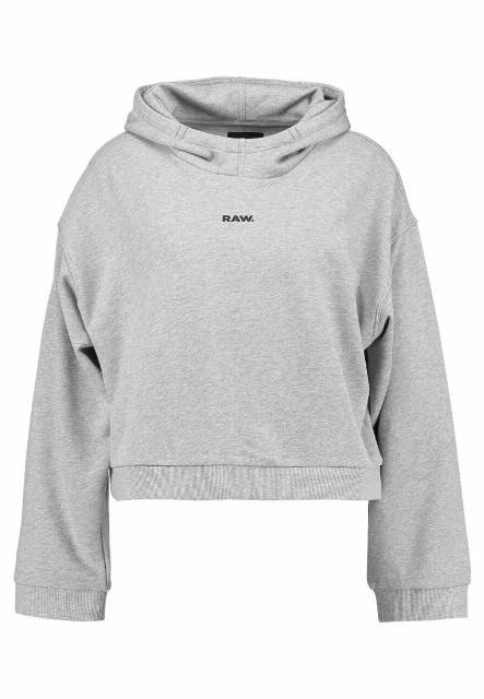GStar FLEMSTER RELAXED CROPPED HOOD Bluza z kapturem grey heather