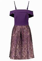 Oasis BAROQUE 2 IN 1 JACQUARD MIDI DRESS Sukienka koktajlowa purple