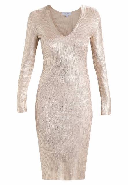 Lost Ink FOIL BODYCON DRESS Sukienka etui rose gold