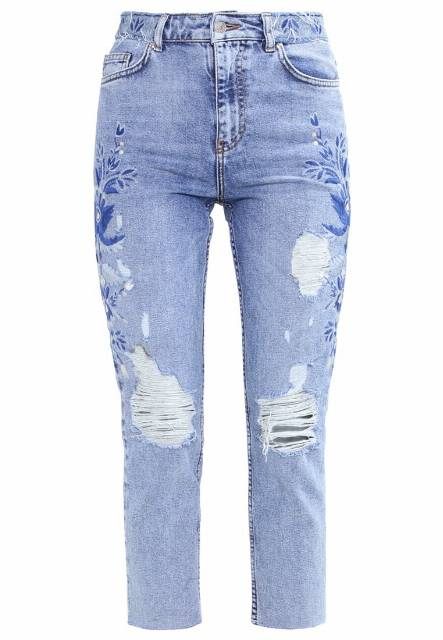 Topshop Jeansy Slim fit blue