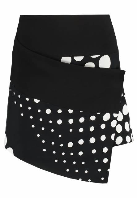 Cameo Collective LOSE CONTROL  Spódnica mini black/white